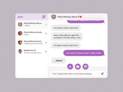 UI Challenge Day 053 - Chat UI spiderman pizza ui challenge ui design ui