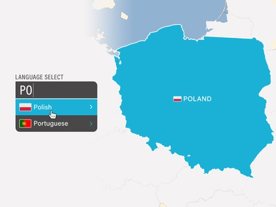 UI Challenge Day 056 - Language Select world map language select ui challenge ui design ui