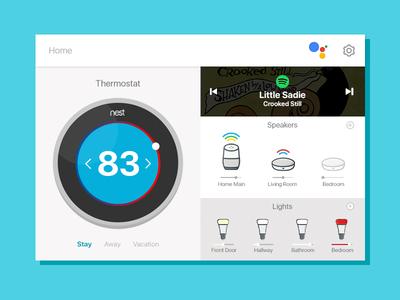UI Challenge Day 067 - Smart Home UI google home smart home ui challenge ui design ui