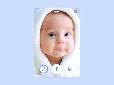 UI Challenge Day 069 - Baby Monitor baby monitor ui challenge ui design ui