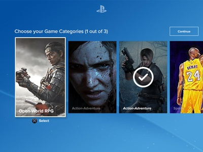 UI Challenge Day 077 - Select Category game category category ps4 ui challenge ui design ui