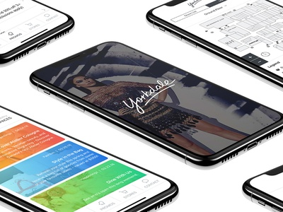 Yorkdale Mall iOS App Concept iphone x shopping mall design uxui ui ux ios mobile application concept