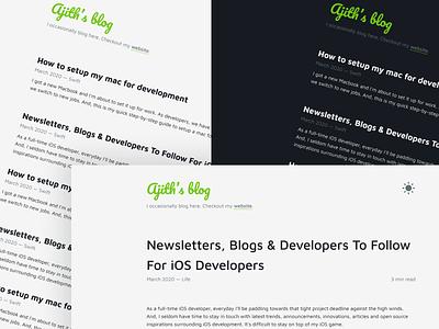 My Minimalistic Blog blog typography blog design
