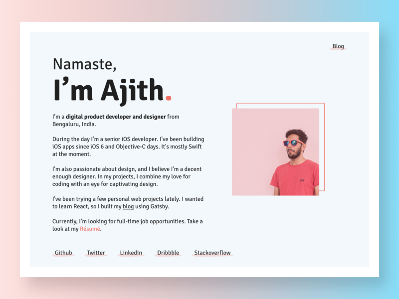 Ajith - Personal Portfolio Website