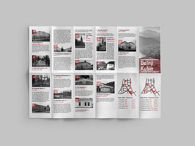 City map brochure - Dolný Kubín #1 cmyk teuton color print design graphic art kubin dolny city map