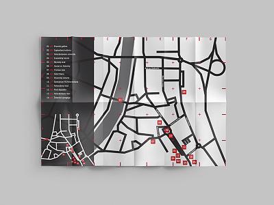 City map brochure - Dolný Kubín #2 cmyk teuton color print design graphic art kubin dolny city map
