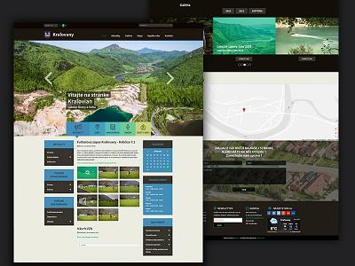 Kraľovany - full webdesign webdesign web village ux ui simple nature modern digital design city