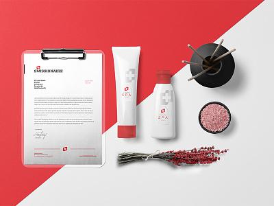 SWISSIONAIRE - logo, branding  typography type swissionaire swiss red modern luxus logo font branding cosmetics brand