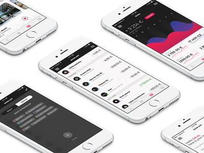Bank Ui Concept #2 experience interface user ux ui stats statistic mobile iphone ios information design