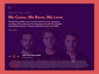Music Player Web Concept