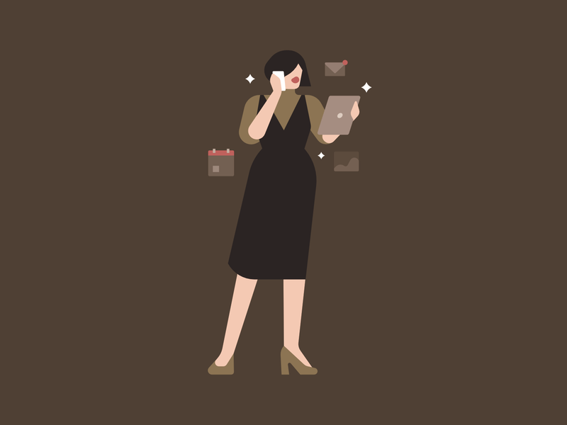 Capricorn horoscopes fashion woman people character editorial illustration