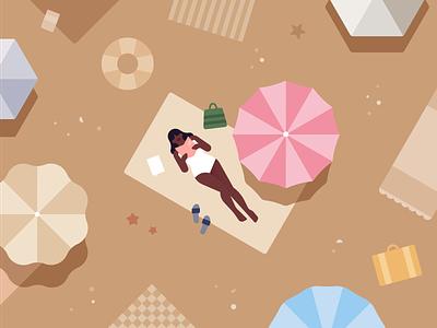 Holiday Plans vacation holidays umbrella fashion app editorial travel app sea summer swimming bikini beach illustration travelling