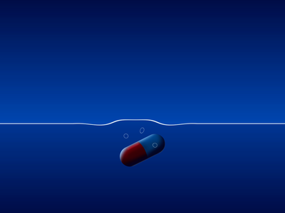 HEALTH - DAY 020 illustration gradient 2d loop after effects 2d animation animation motion design pills capsule pill akira