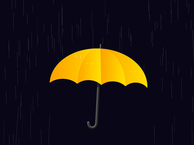 UMBRELLA - DAY 021 motion graphics illustration 2d loop after effects 2d animation animation motion design rainy raindrops rain umbrella