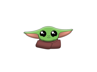 THE CHILD - DAY 078 motion graphics illustration 2d loop after effects 2d animation animation motion design star wars mandalorian baby yoda yoda