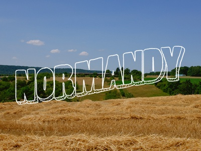 Normandy retro country normandy vlog travel france handtype hand typography