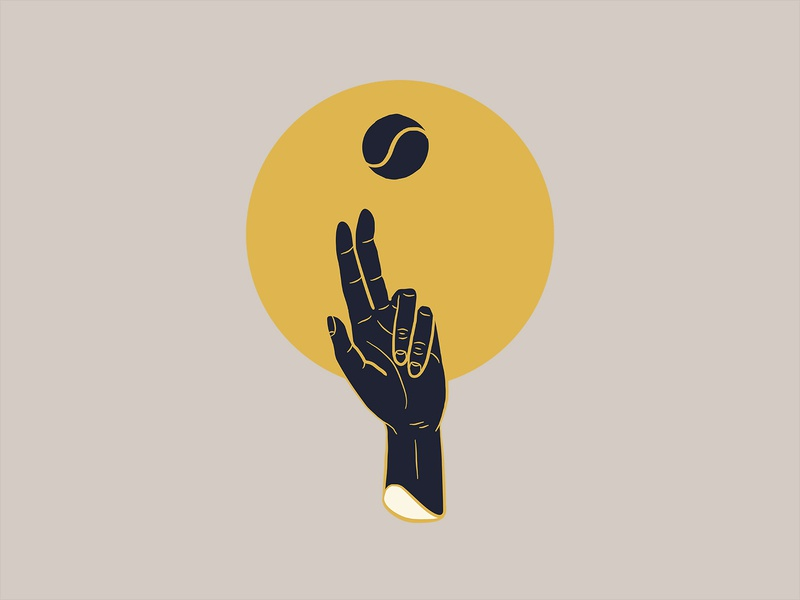 Tennaissance illustration renaissance ball serve tennis