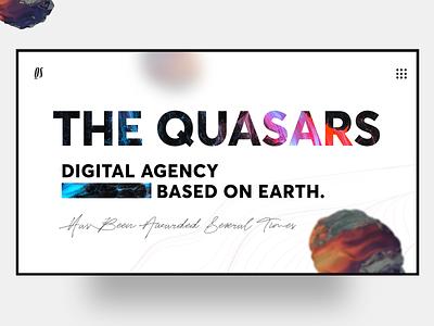 The Quasars web award architecure agency website concept creative direction clean agency minimal awwwards