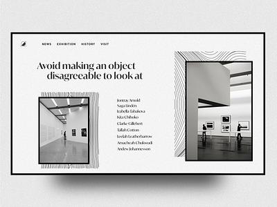 Exhibition ui ux creative fullscreen awwwards minimal clean illustration award creative direction