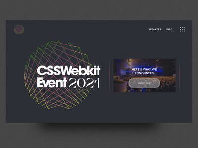 CSS Webkit Event web design typography vector branding clean illustration minimal fullscreen creative direction