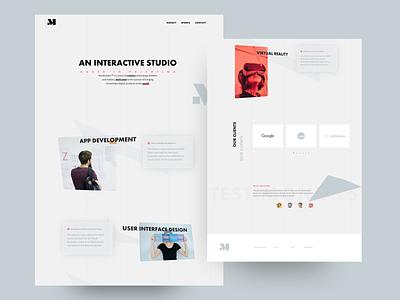 Interactive Studio - Concept award awwwards web clean agency minimal