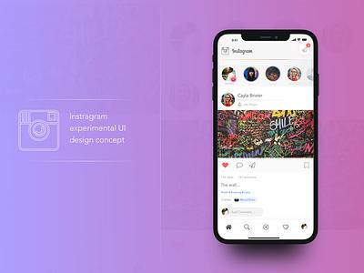 Instagram redesign concept media ceative ux ui instagram