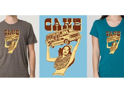 Official CAKE Tour Tee cake ruocco tee t-shirt shirt apparel screen-print concert gig band rock merchandise music