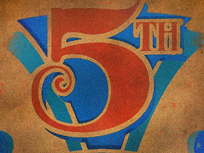 5th type exploration type numeral typography design 5 five vintage