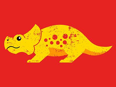 Protoceratops dino dinosaur prehistoric museum protoceratops ruocco print design graphic red yellow illustration