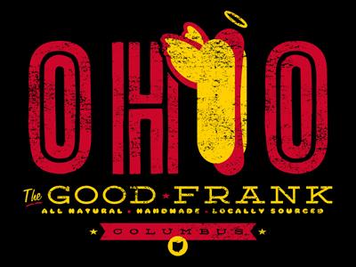 The Good Frank OHIO T-Shirt ruocco ohio hot dog food vintage design graphic antique oh state columbus tee t-shirt apparel retro