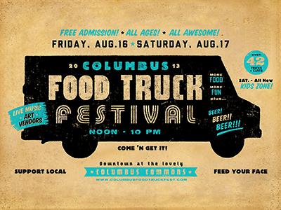 Columbus Food Truck Fest Promo1 columbus ohio food truck ruocco promo type typography graphic design retro vintage