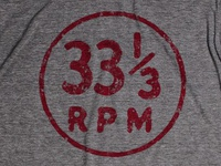 33 1/3 rpm Circle Icon T-shirt