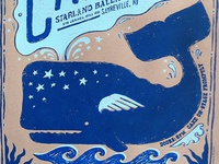 Whale Poster for the band CAKE
