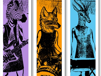 Animal Rock Band Booth Banners animals fox zebra banner booth rock ruocco signage
