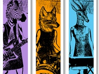 Animal Rock Band Booth Banners
