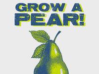 Grow a Pear! Print & T-Shirt design.