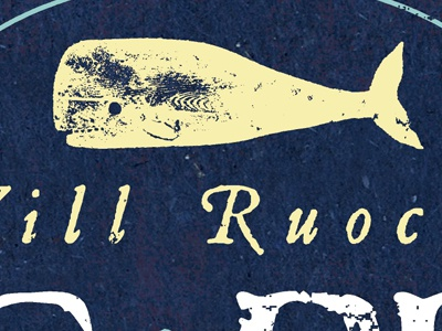 Whale Posters packaging label detail 1 ruocco whale marine nautical animal mammal sperm whale wood type typography antique retro vintage tail ocean sea