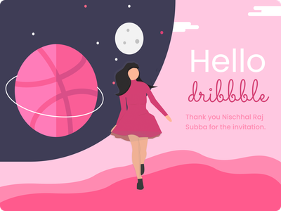 Hello Dribble illustration dribble shot debut dribble