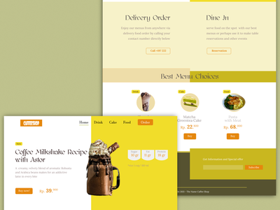 Web Design Caffee Shop caffee ui  ux web design design