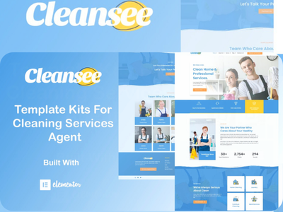 Template for cleaning service agent web webdesigner designer designs webdesign design app website ux ui graphic design