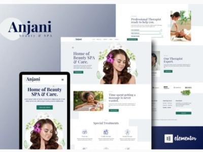 Anjani Spa branding web ui ux designs webdesign webdesigner designer design website
