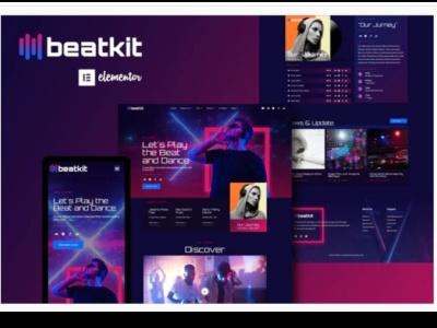 Beatkit branding designer ux ui design designs webdesigner web webdesign website