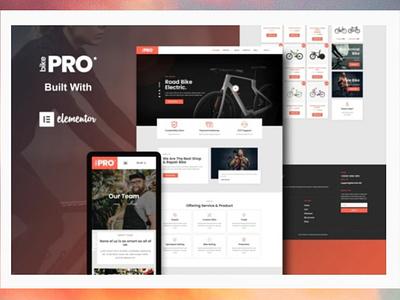 BikePro designer designs branding webdesigner webdesign web ux website ui design