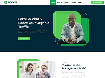 Spora branding designs designer webdesigner webdesign web ux website ui design