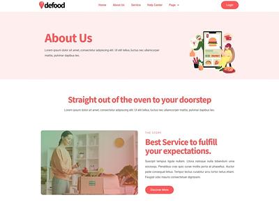 Defood app designs designer webdesigner webdesign web ux website ui design