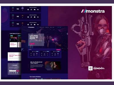 Monstra branding webdesigner webdesign web ux website ui design
