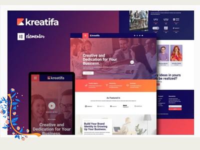 Kreatifa wordpress design designer wordpress designs webdesigner webdesign web ux website ui design