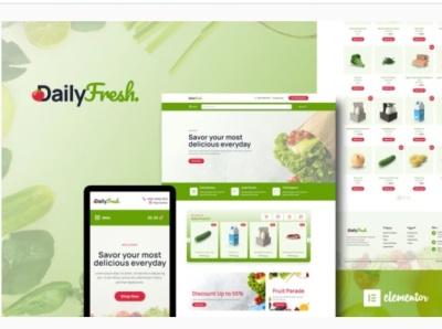 DailyFresh designs designer wordpress design webdesigner web webdesign ux website ui design