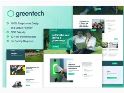 Greentech webdesigner webdesign web ux website ui design
