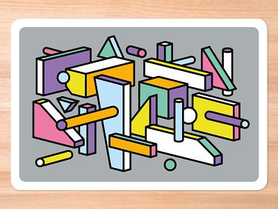 Improv Cards - Shapes graphic design shapes design icebreaker cards vector illustration